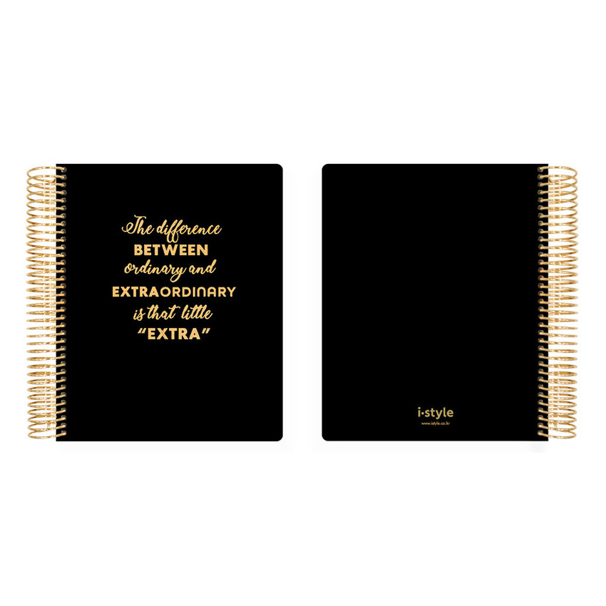 2021 Black Quote PU hardcover dated weekly planner