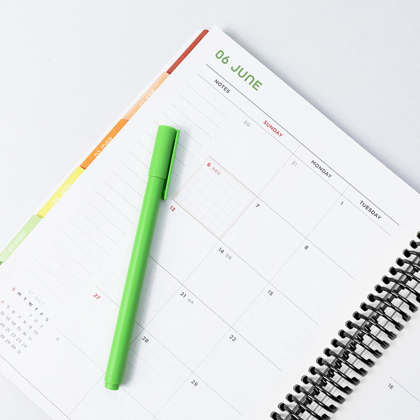 Monthly plan - 2021 Live flowers spiral dated weekly planner