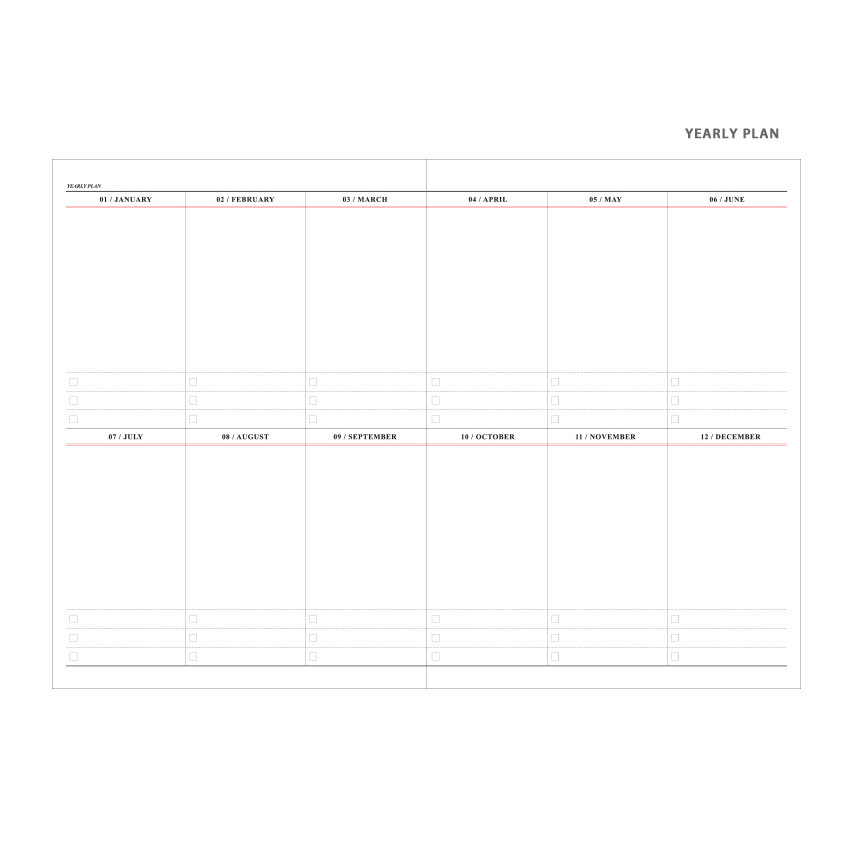 Yearly plan - Wanna This 2021 Month classic medium dated monthly planner