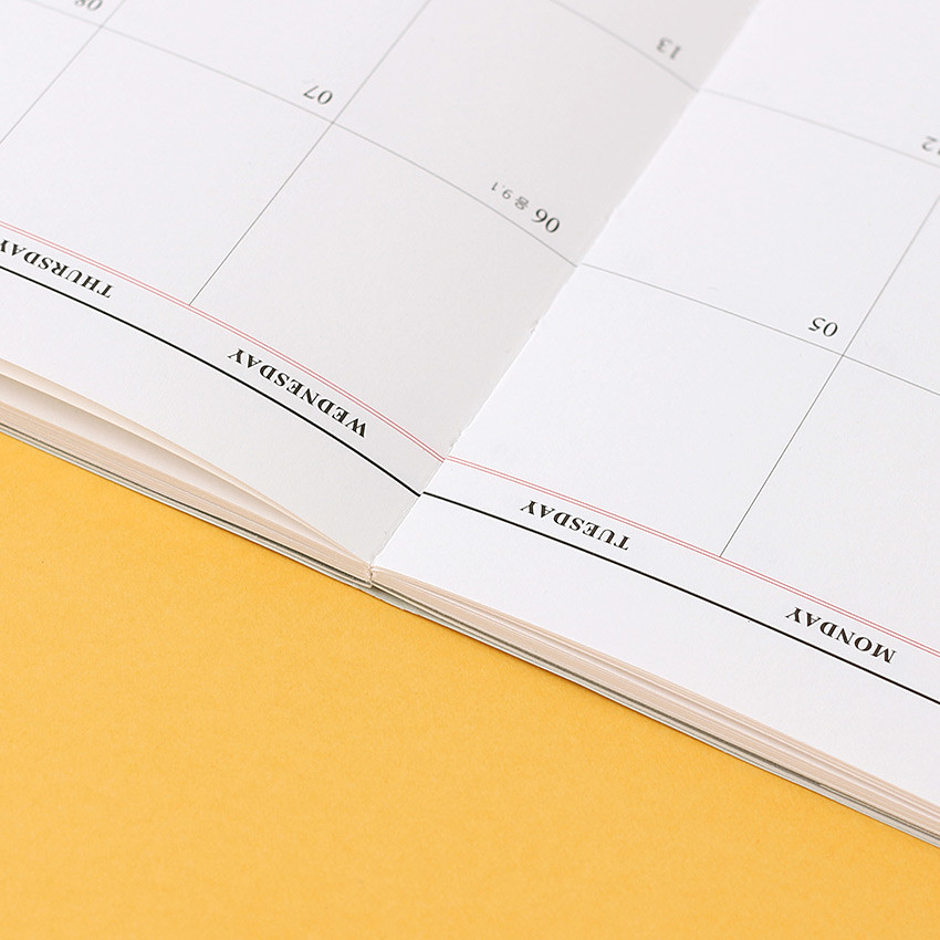 Opens flat - Wanna This 2021 Month classic medium dated monthly planner
