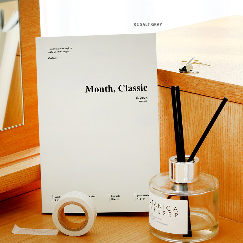 Salt gray - Wanna This 2021 Month classic medium dated monthly planner