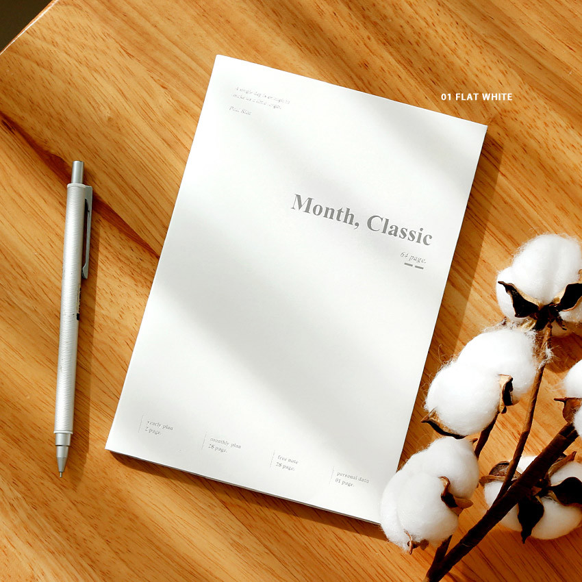 Flat white - Wanna This 2021 Month classic medium dated monthly planner