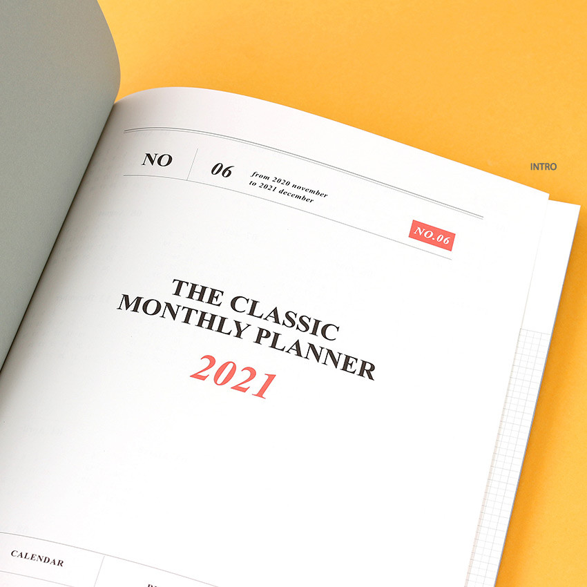 Intro - Wanna This 2021 Month classic large dated monthly planner
