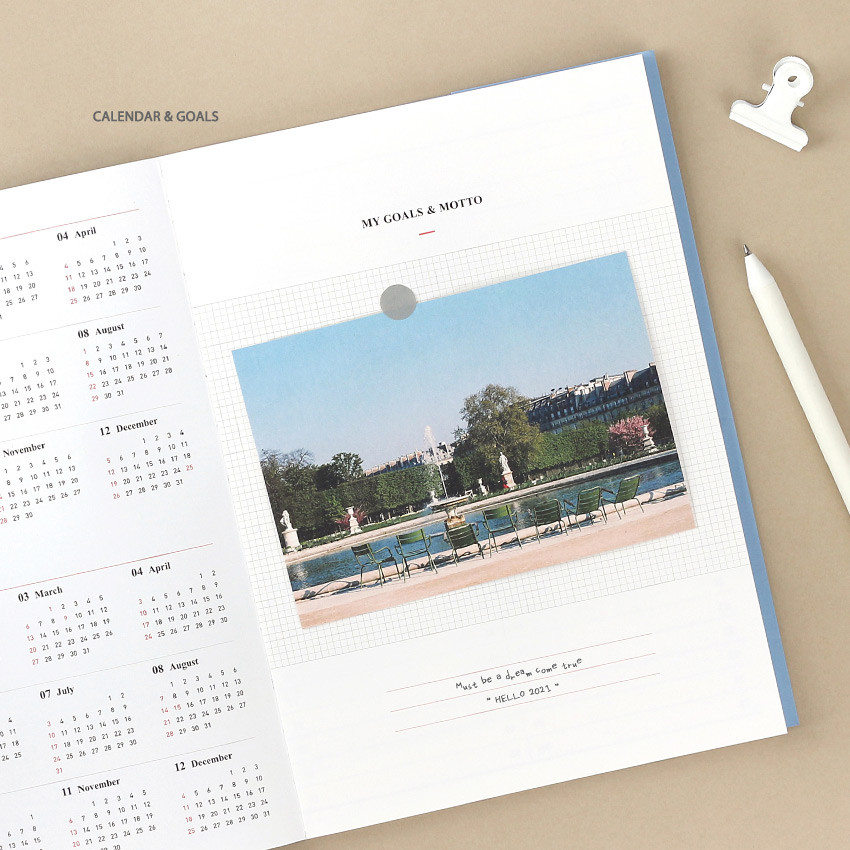 Calendar & goals - Wanna This 2021 Month classic large dated monthly planner