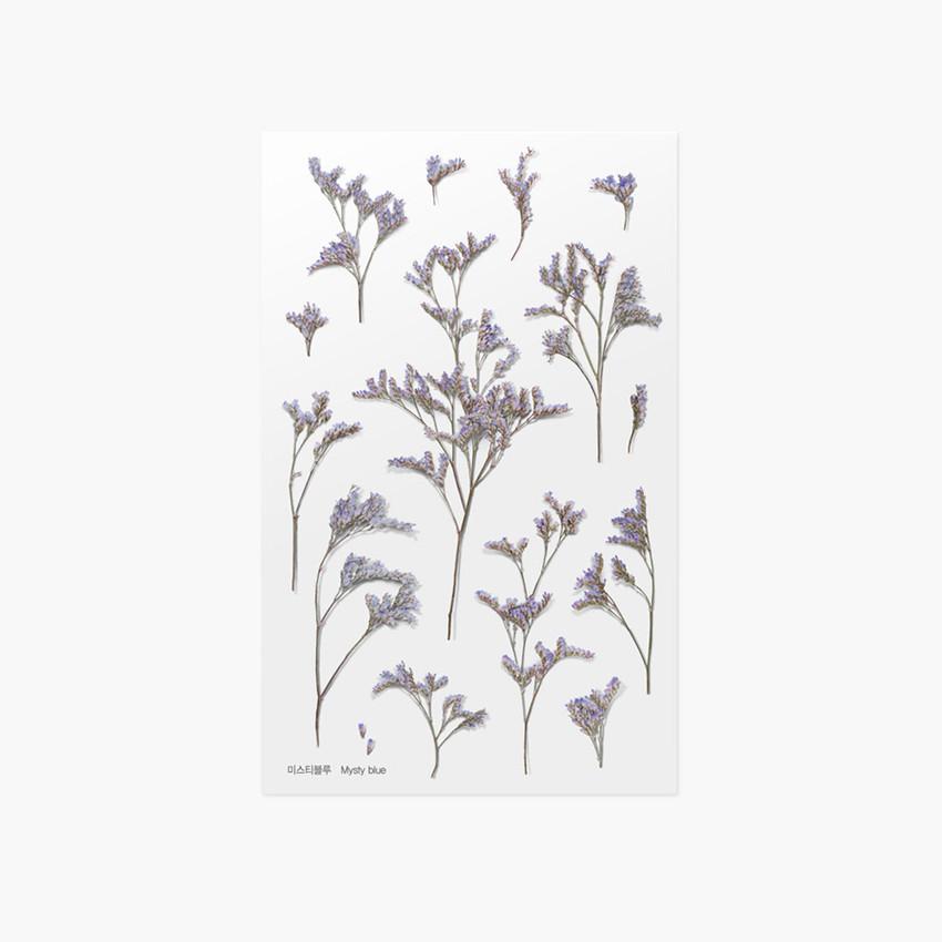 Appree Misty blue pressed flower sticker