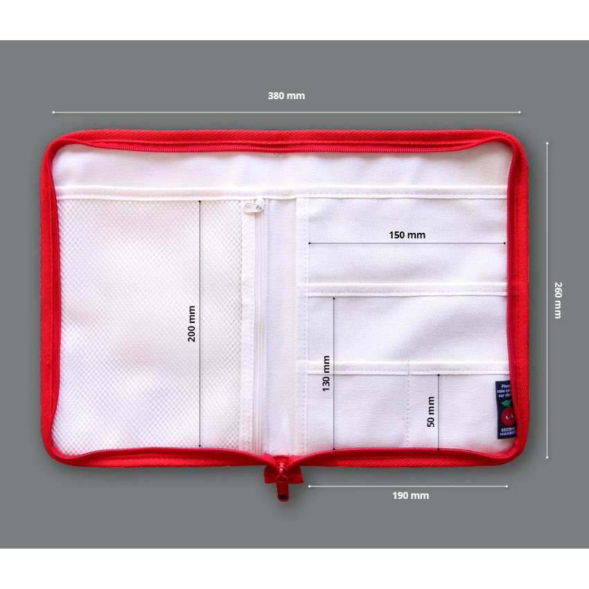 Size - Second Mansion Cherry me pocket zipper book cover pouch