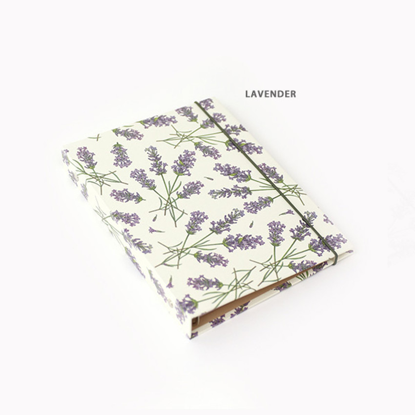 Lavender - PAPERIAN Florence A5 size 6 ring binder with elastic band