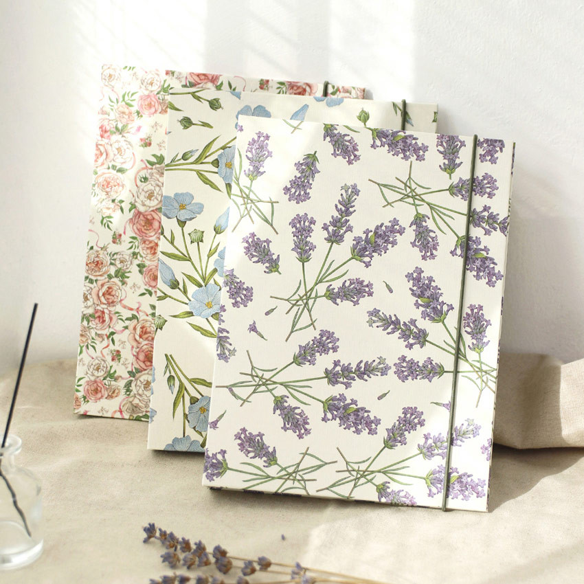 PAPERIAN Florence A5 size 6 ring binder with elastic band