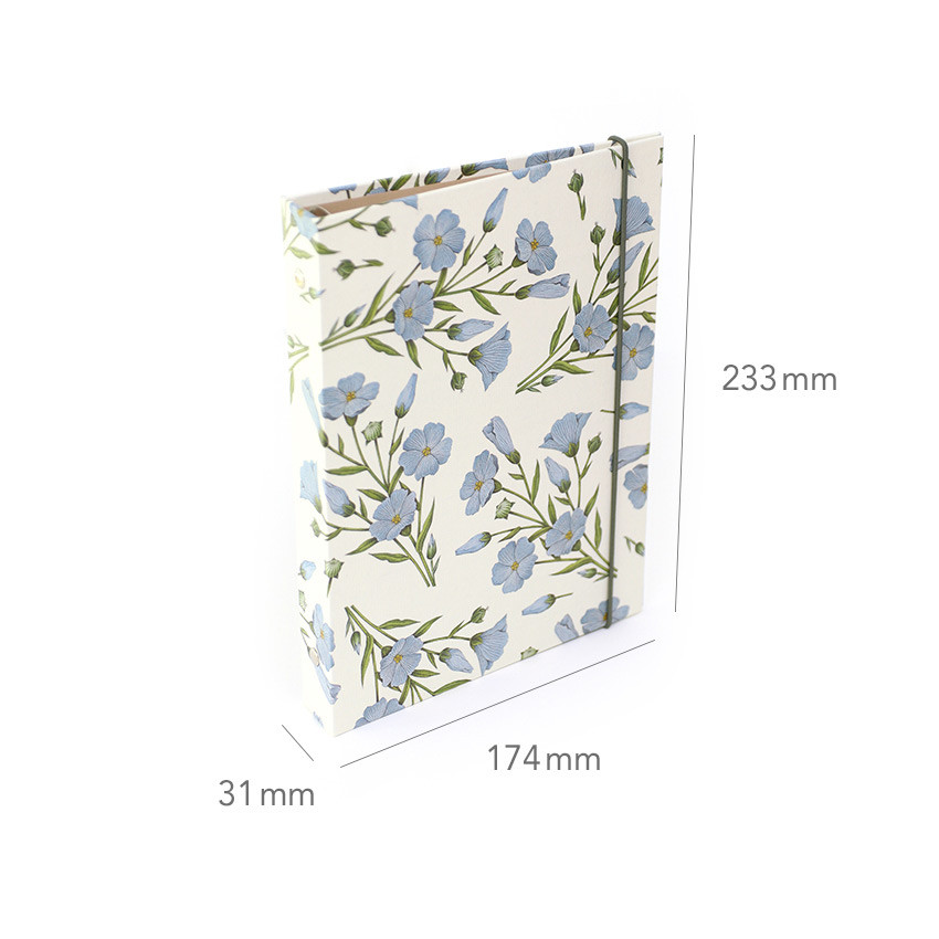 Size - PAPERIAN Florence A5 size 6 ring binder with elastic band