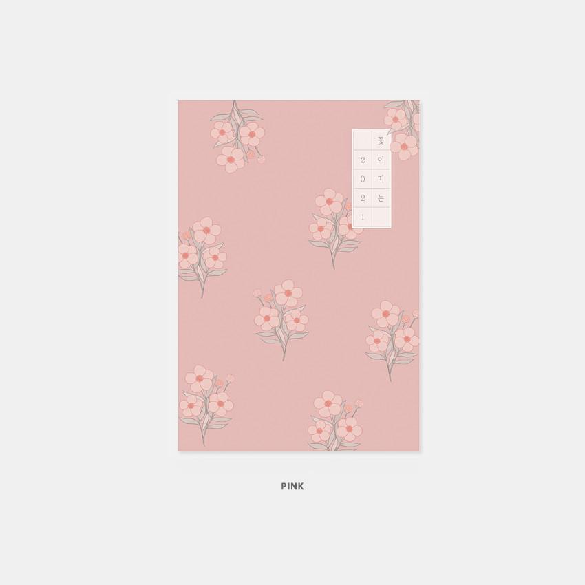 Pink - 3AL 2021 Flowery dated weekly diary planner