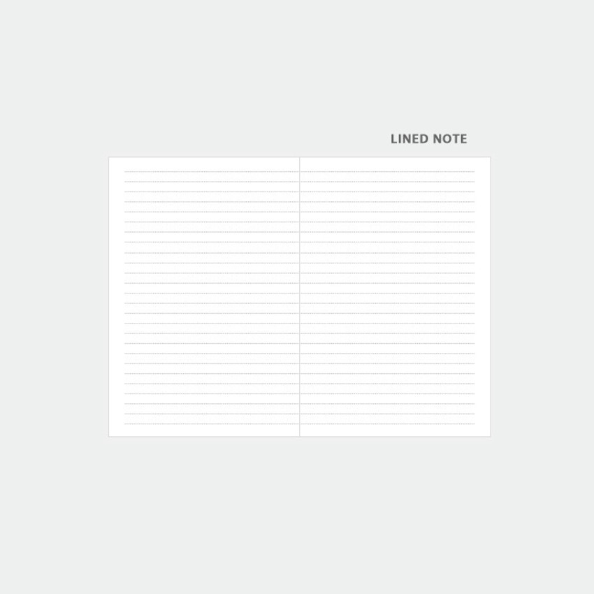 Lined note - 3AL 2021 Flowery dated weekly diary planner