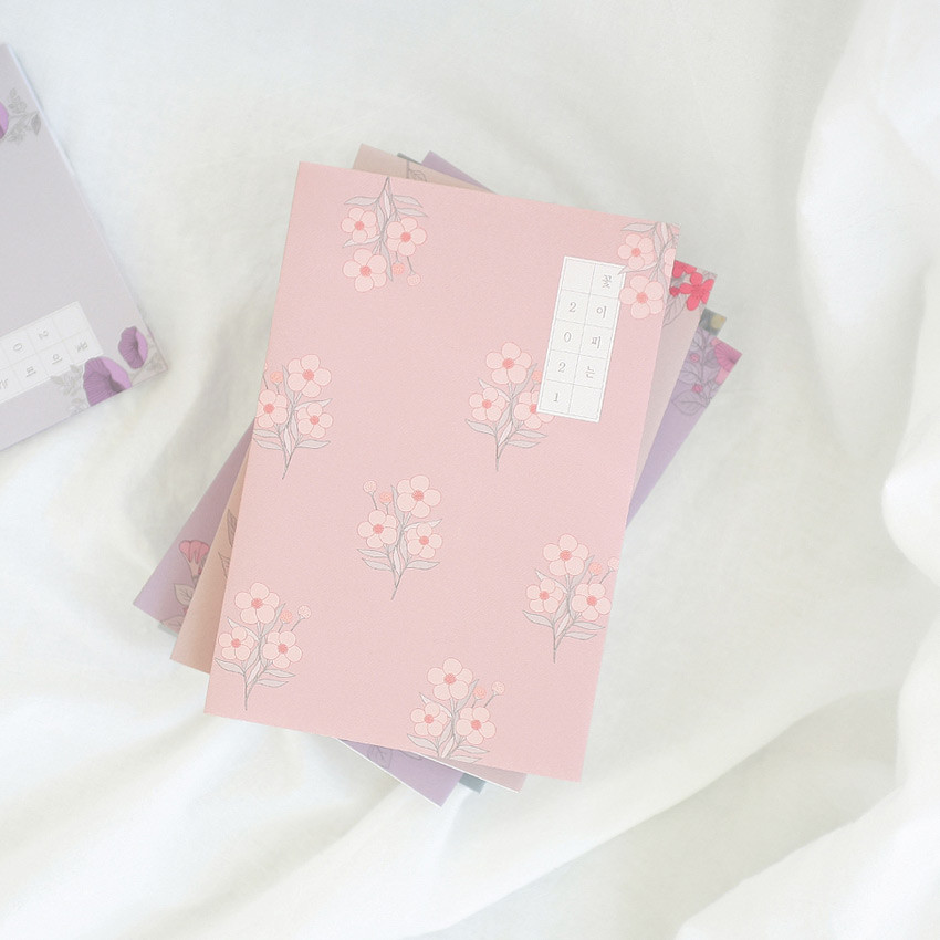 3AL 2021 Flowery dated weekly diary planner
