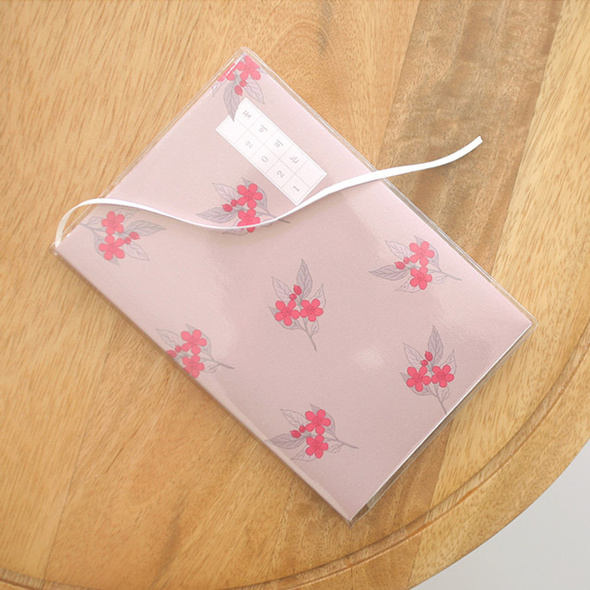 PVC cover, Ribbon bookmark - 3AL 2021 Flowery dated weekly diary planner