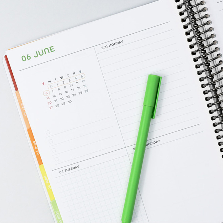 Weekly plan - 2021 Floral natural spiral dated weekly planner