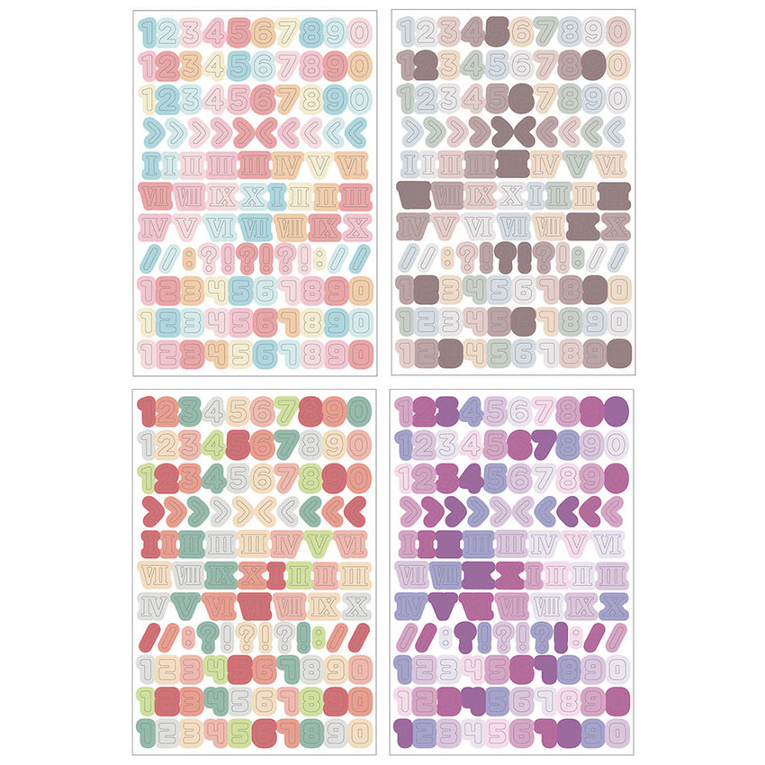 Detail of PLEPLE Number sticker 8 sheets set