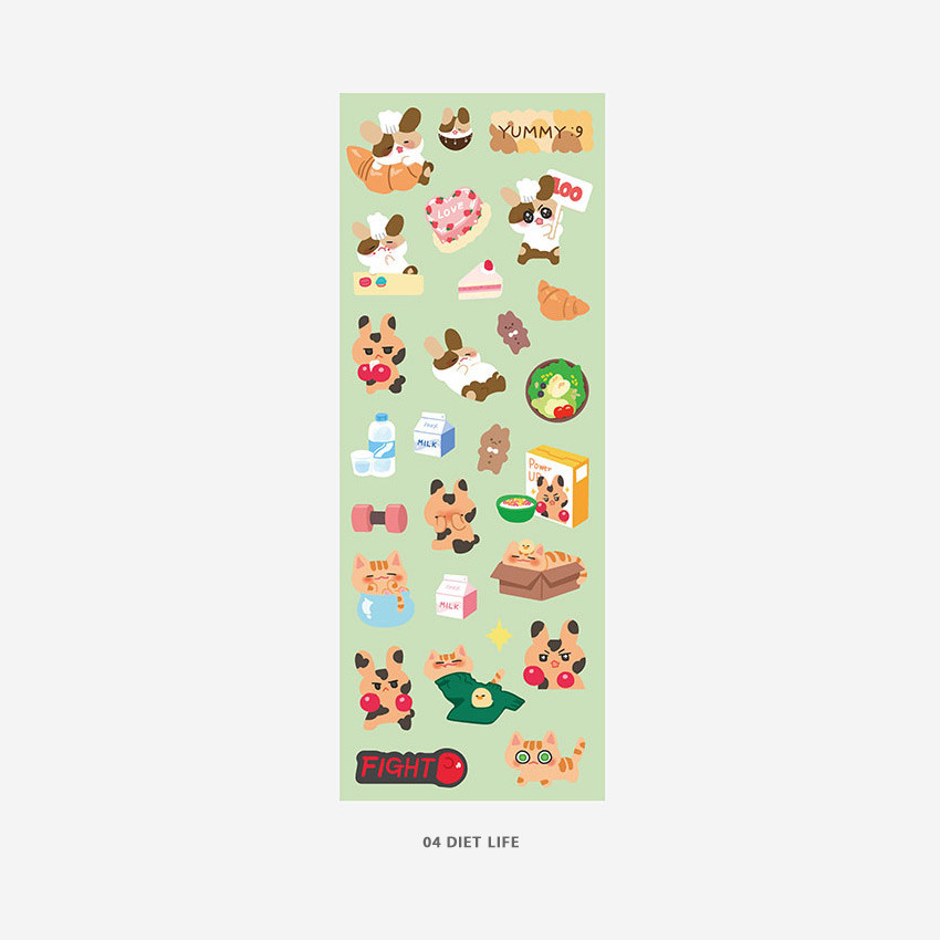 04 Diet life - PLEPLE Bunny life paper removable sticker