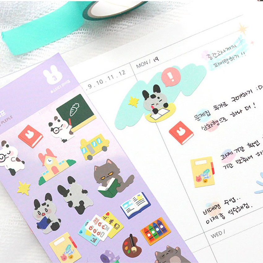 Usage example - PLEPLE Bunny life paper removable sticker