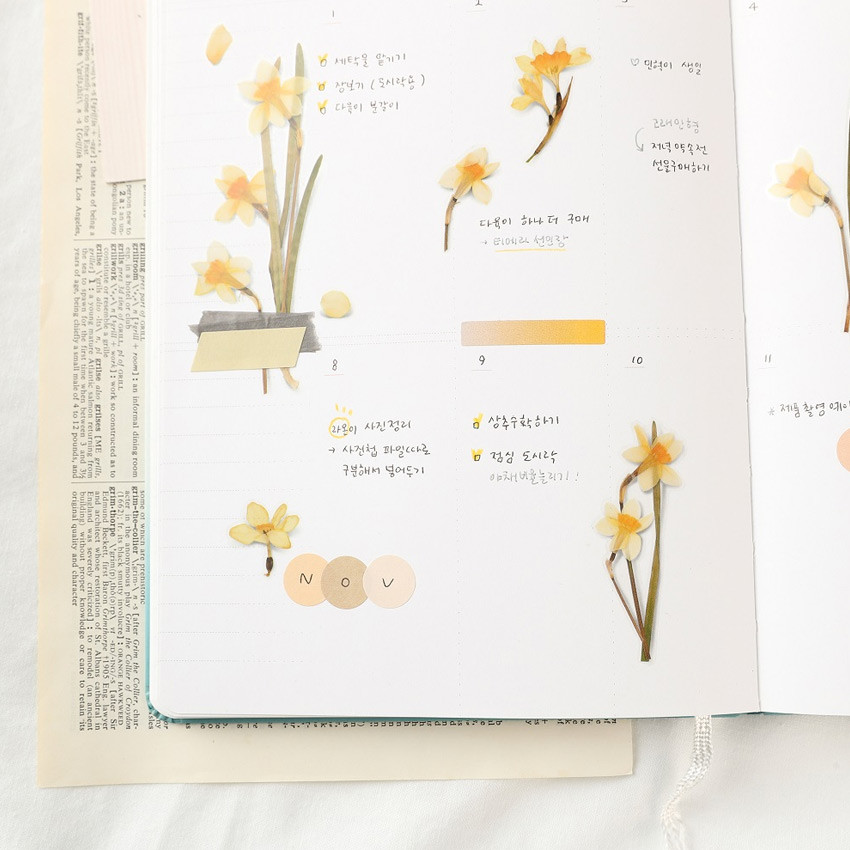 Usage example - Appree Narcissus pressed flower sticker