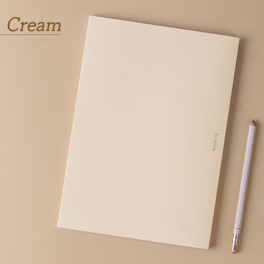 Cream - Wanna This 2021 Delight log large dated monthly diary