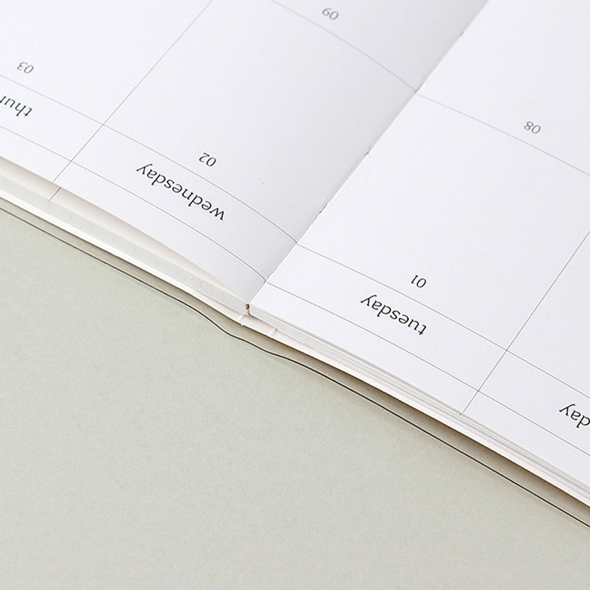 Opens flat - Wanna This 2021 Delight log large dated monthly diary