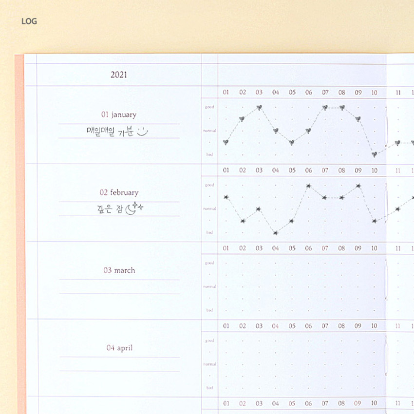 Log - Wanna This 2021 Delight log large dated monthly diary