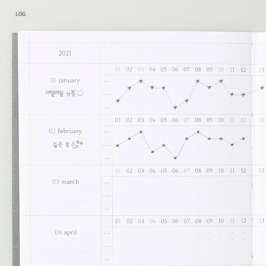 Log - Wanna This 2021 Delight log medium dated monthly diary