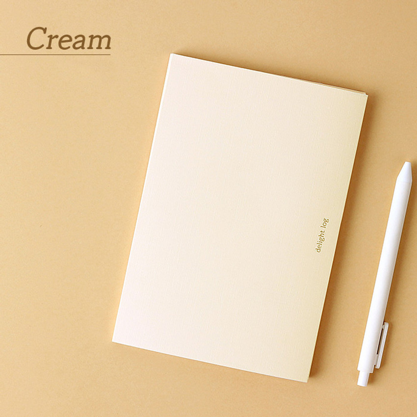 Cream - Wanna This 2021 Delight log medium dated monthly diary