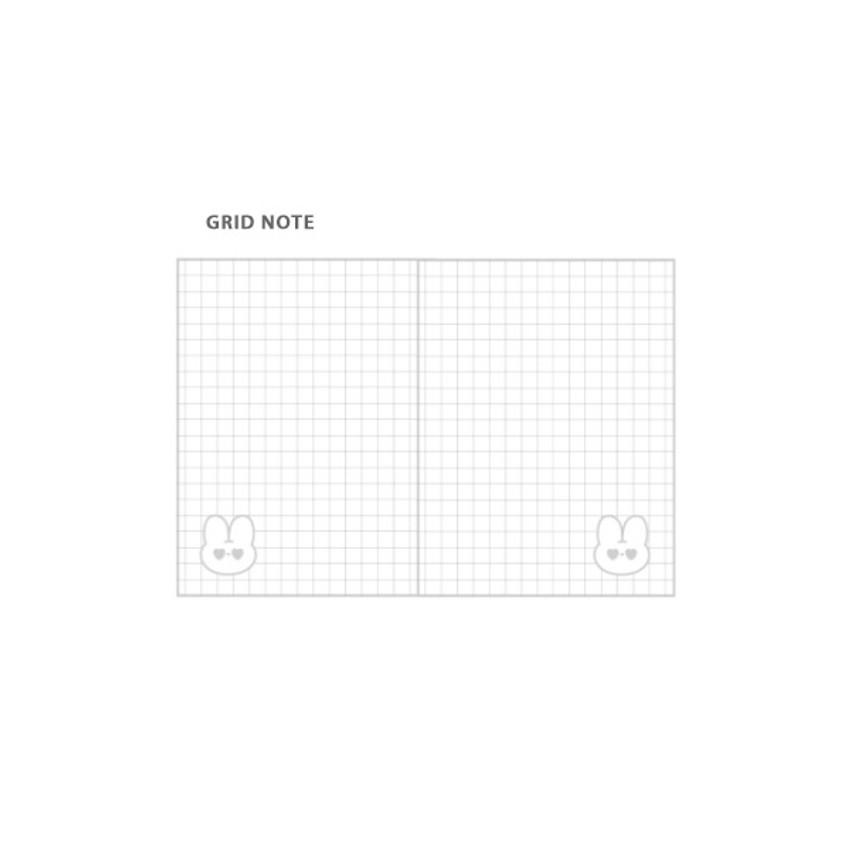 Grid note - DESIGN GOMGOM Reeli 3-ring grid notebook