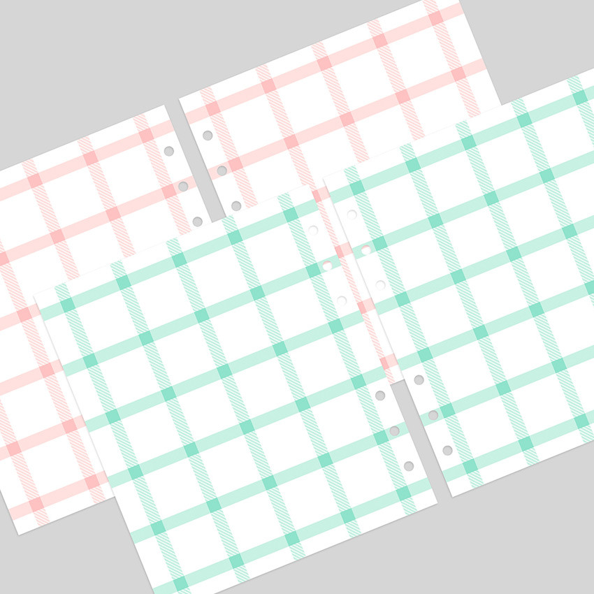2NUL Cherry pick wide A6 6-ring cross grid note paper refill