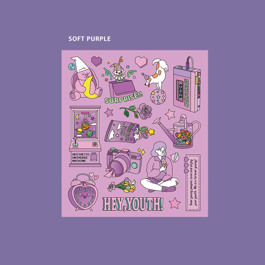 Soft Purple - Ardium Pop illustration colorful point paper sticker ver5