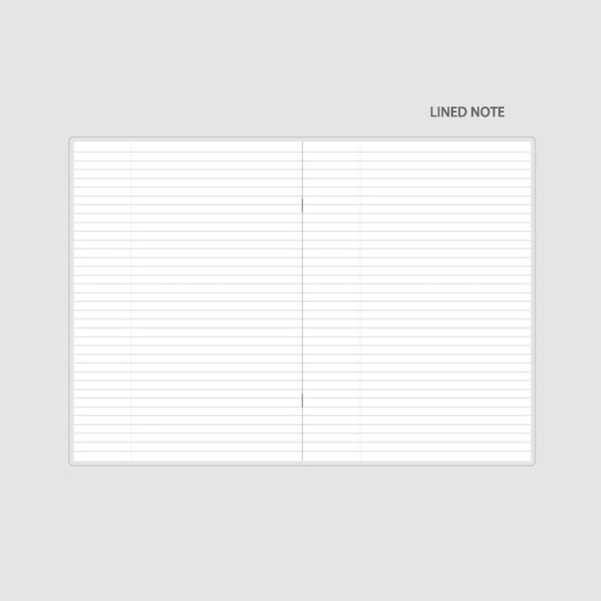 Lined note - Chachap 2021 Note dated monthly diary planner