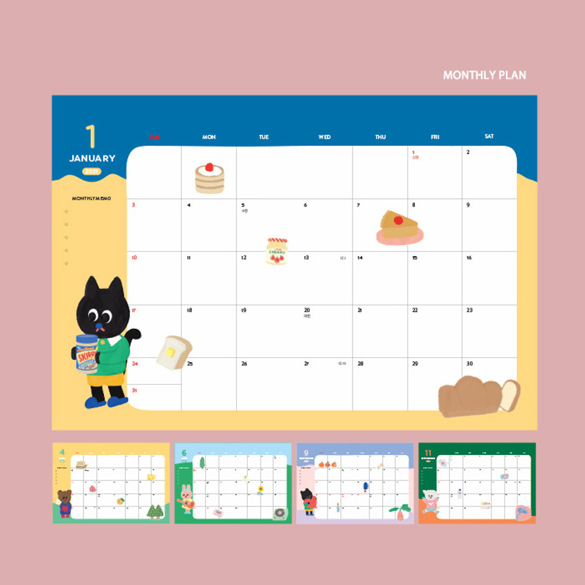Monthly plan - GMZ 2021 Kitsch heart dated weekly diary planner