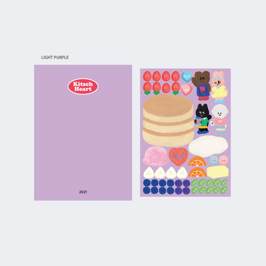 Light Purple - GMZ 2021 Kitsch heart dated weekly diary planner