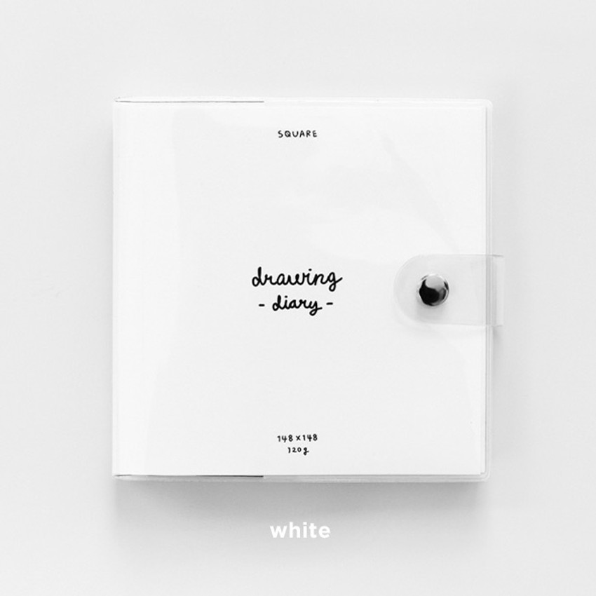 White - 2NUL Square drawing dateless weekly diary planner