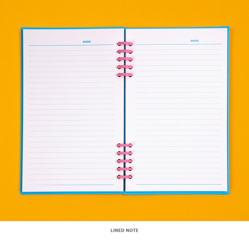 Lined note - Ardium Color pop 10 rings dateless monthly diary planner