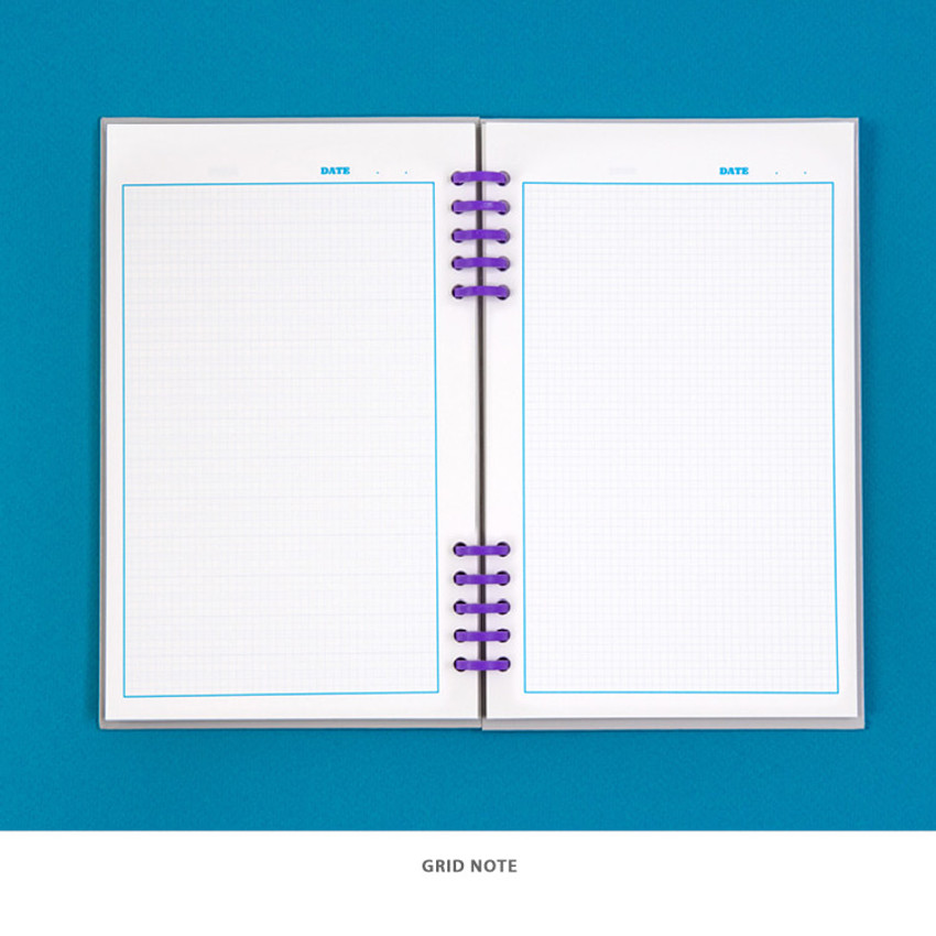 Grid note - Ardium Color pop 10 rings dateless monthly diary planner