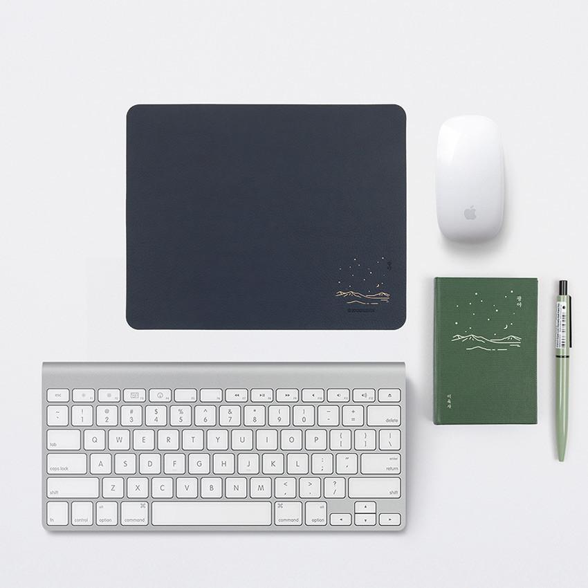 Navy - Bookfriends Korean literature reversible mouse pad