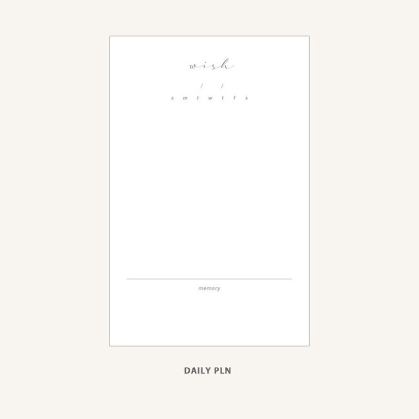 Daily plan - Dash And Dot Wish dateless daily diary planner