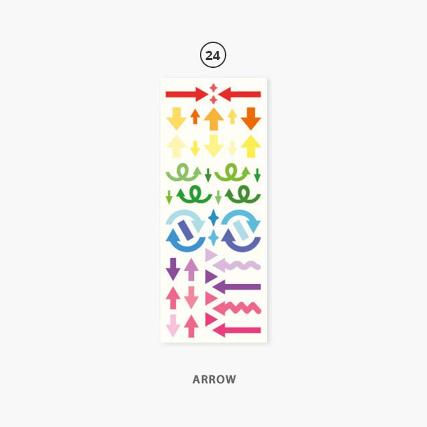 24 Arrow - Second Mansion Hologram confetti removable sticker seal 19-24