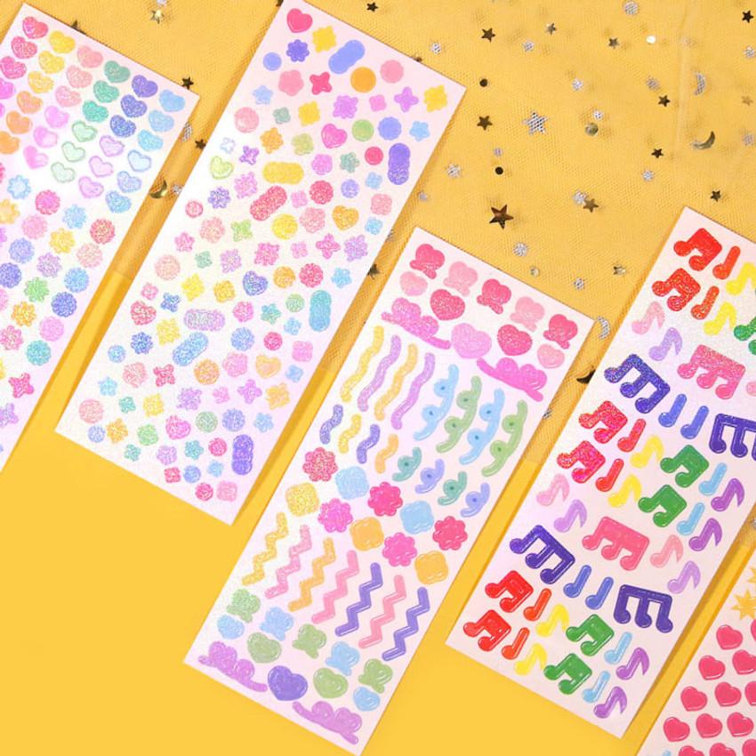 Second Mansion Hologram confetti removable sticker seal 19-24