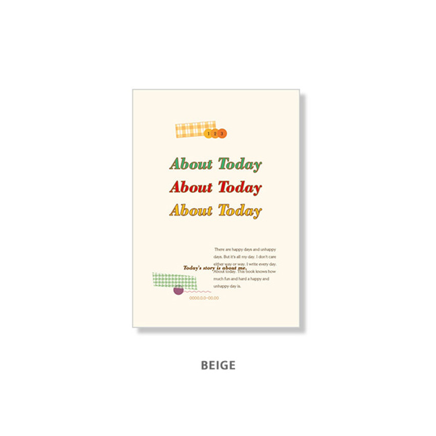 Beige - Ardium About today dateless daily diary planner