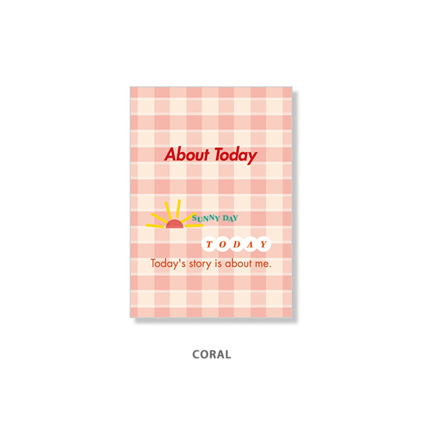 Coral - Ardium About today dateless daily diary planner