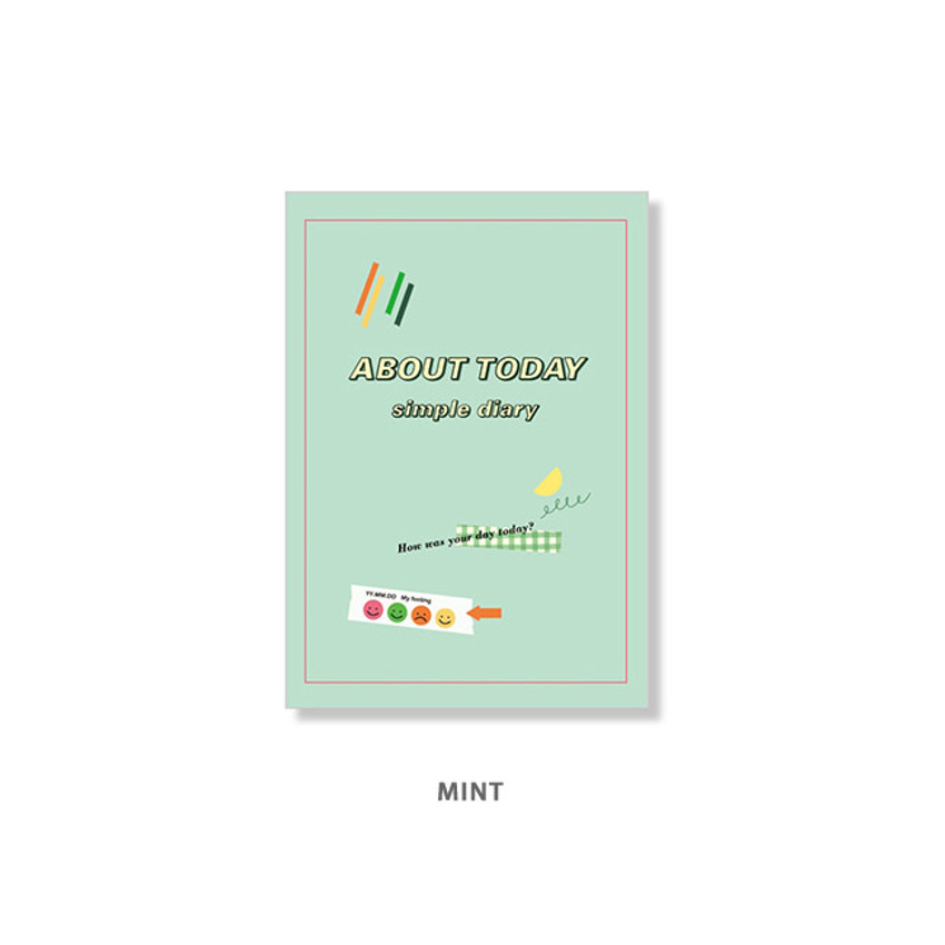 Mint - Ardium About today dateless daily diary planner