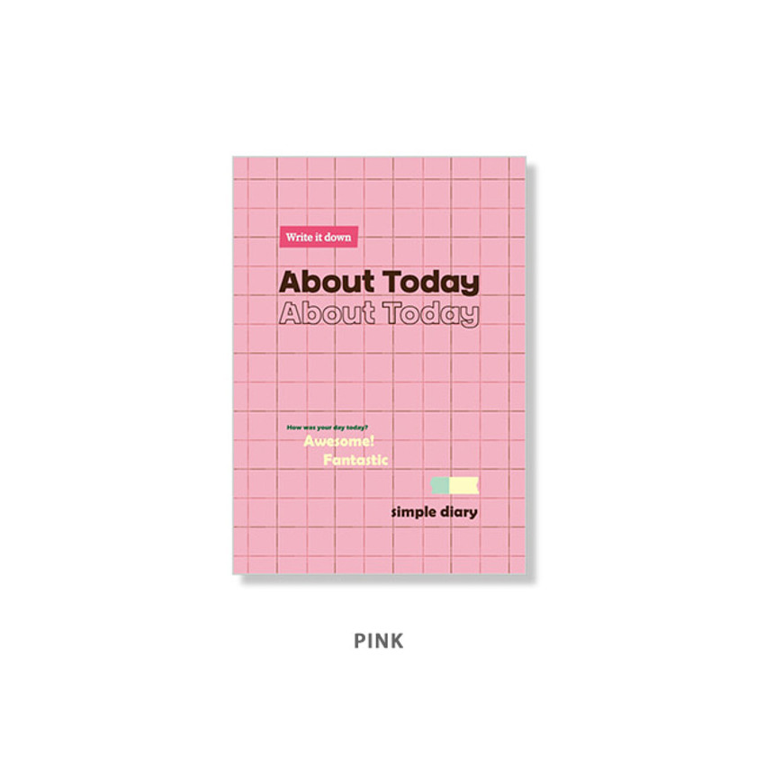 Pink - Ardium About today dateless daily diary planner