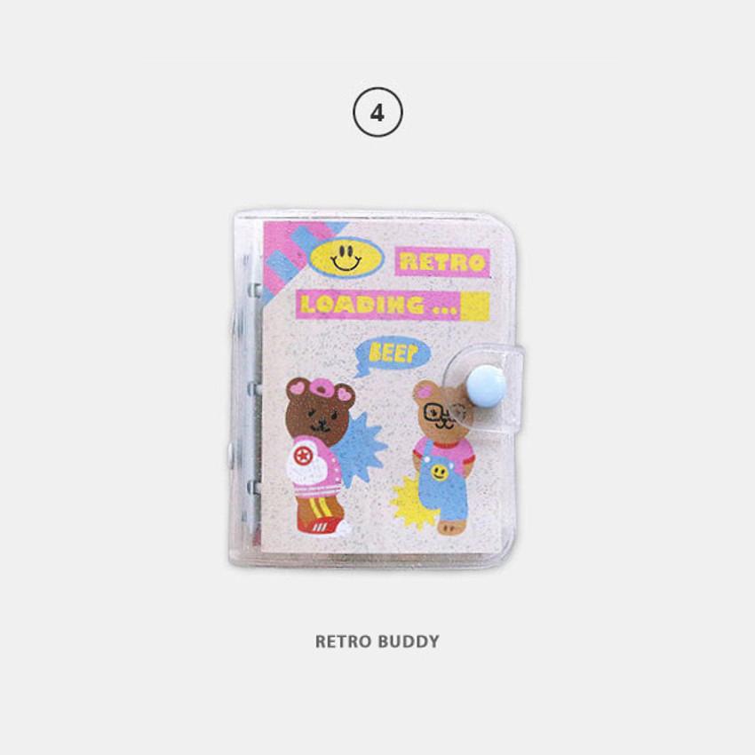 Retro buddy - Second Mansion Juicy bear 3 ring grid notebook