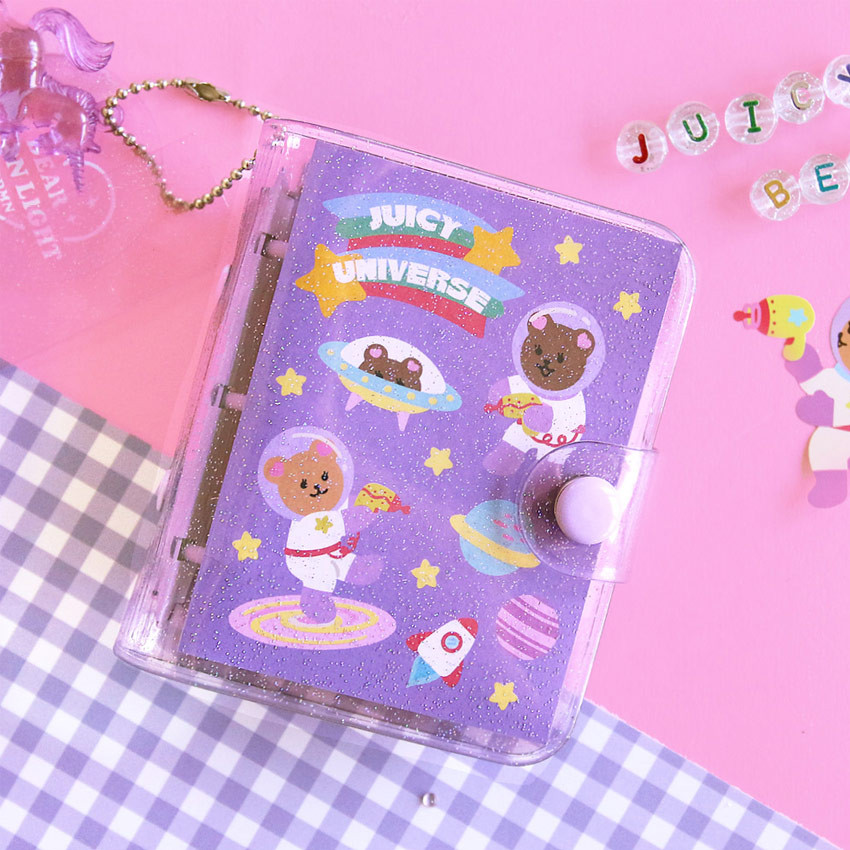 Universe - Second Mansion Juicy bear 3 ring grid notebook