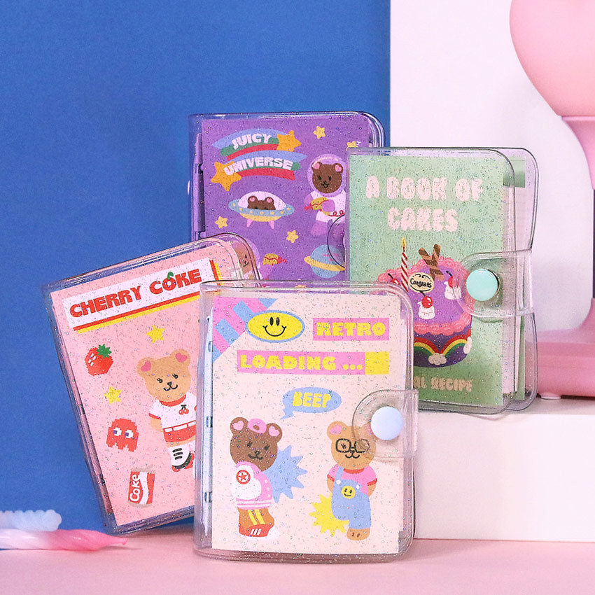 Second Mansion Juicy bear 3 ring grid notebook