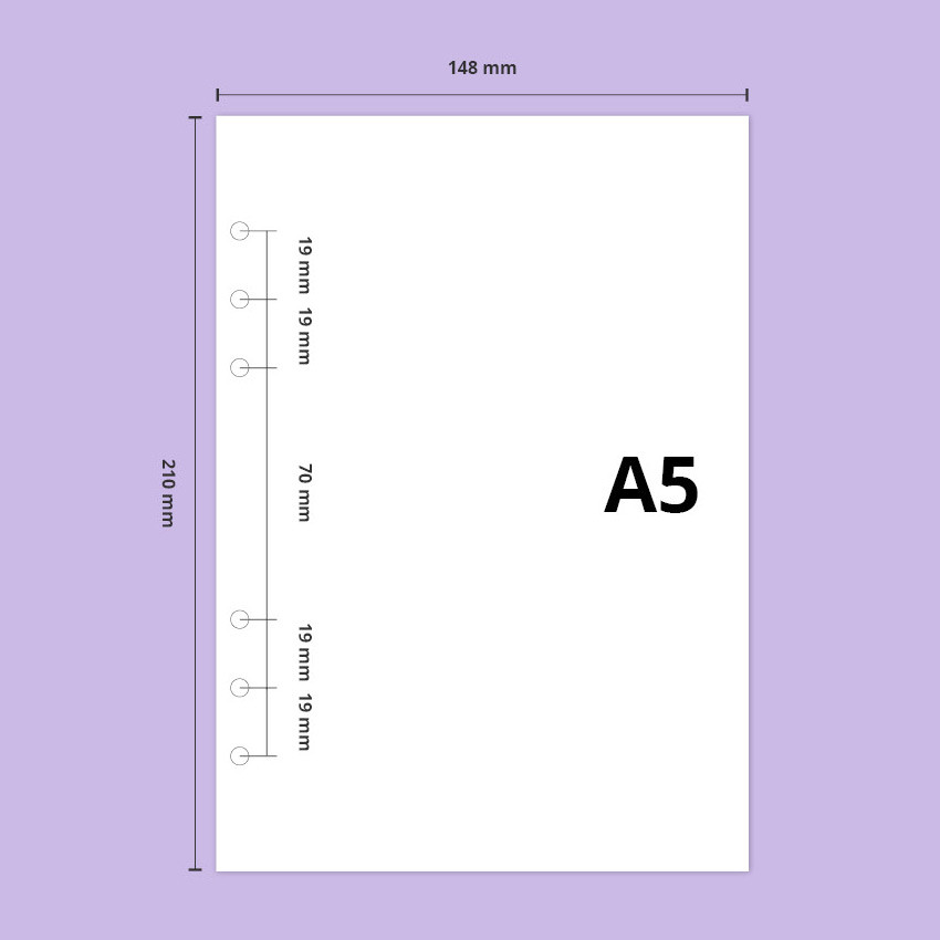 Inner paper size - Second Mansion A5 size PP cover 6 ring binder