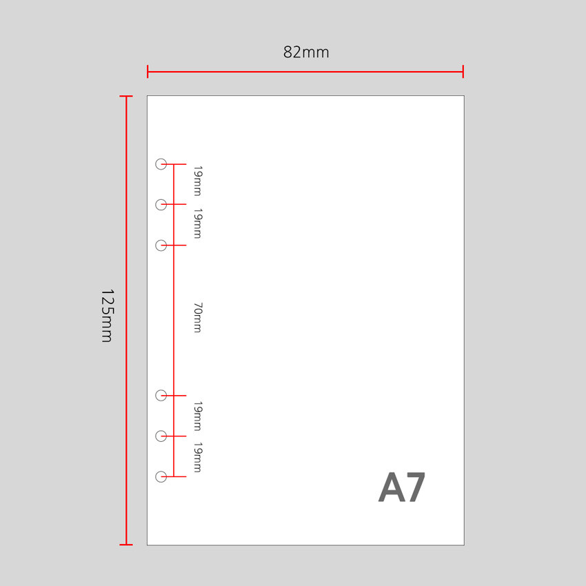 A7 size - Wanna This Picnic check A7 6-ring dateless monthly planner