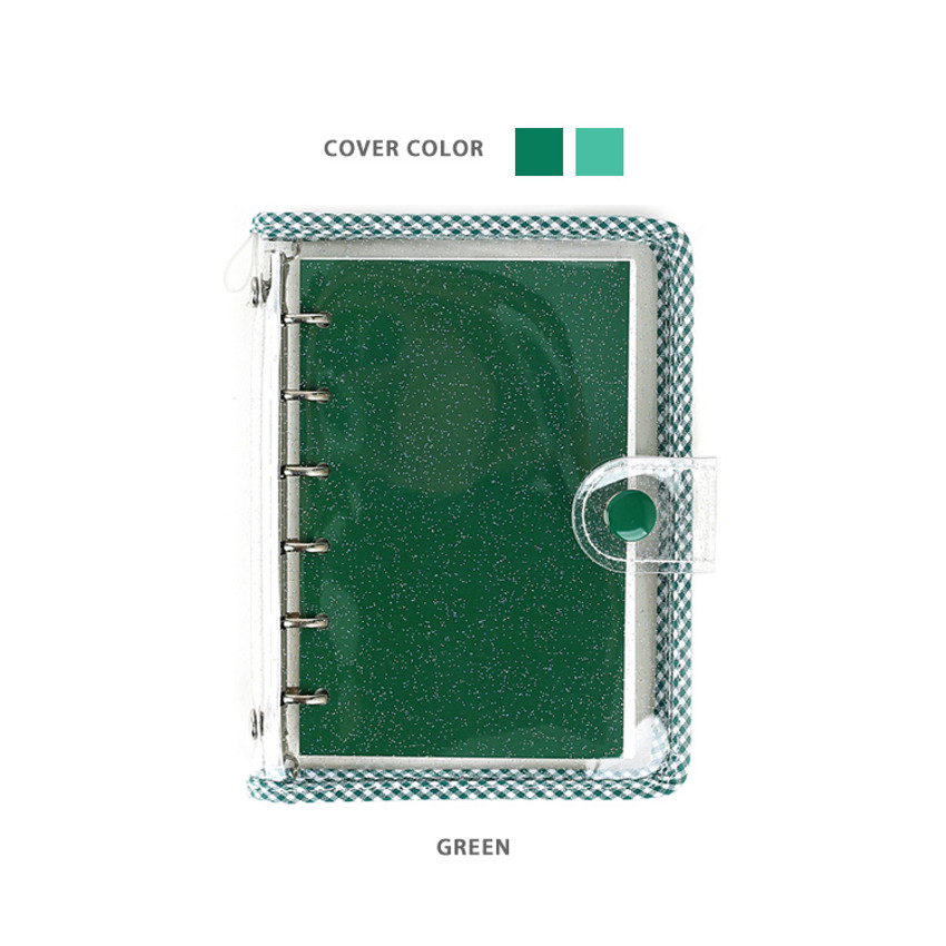 Green - Wanna This Picnic check A7 6-ring dateless monthly planner